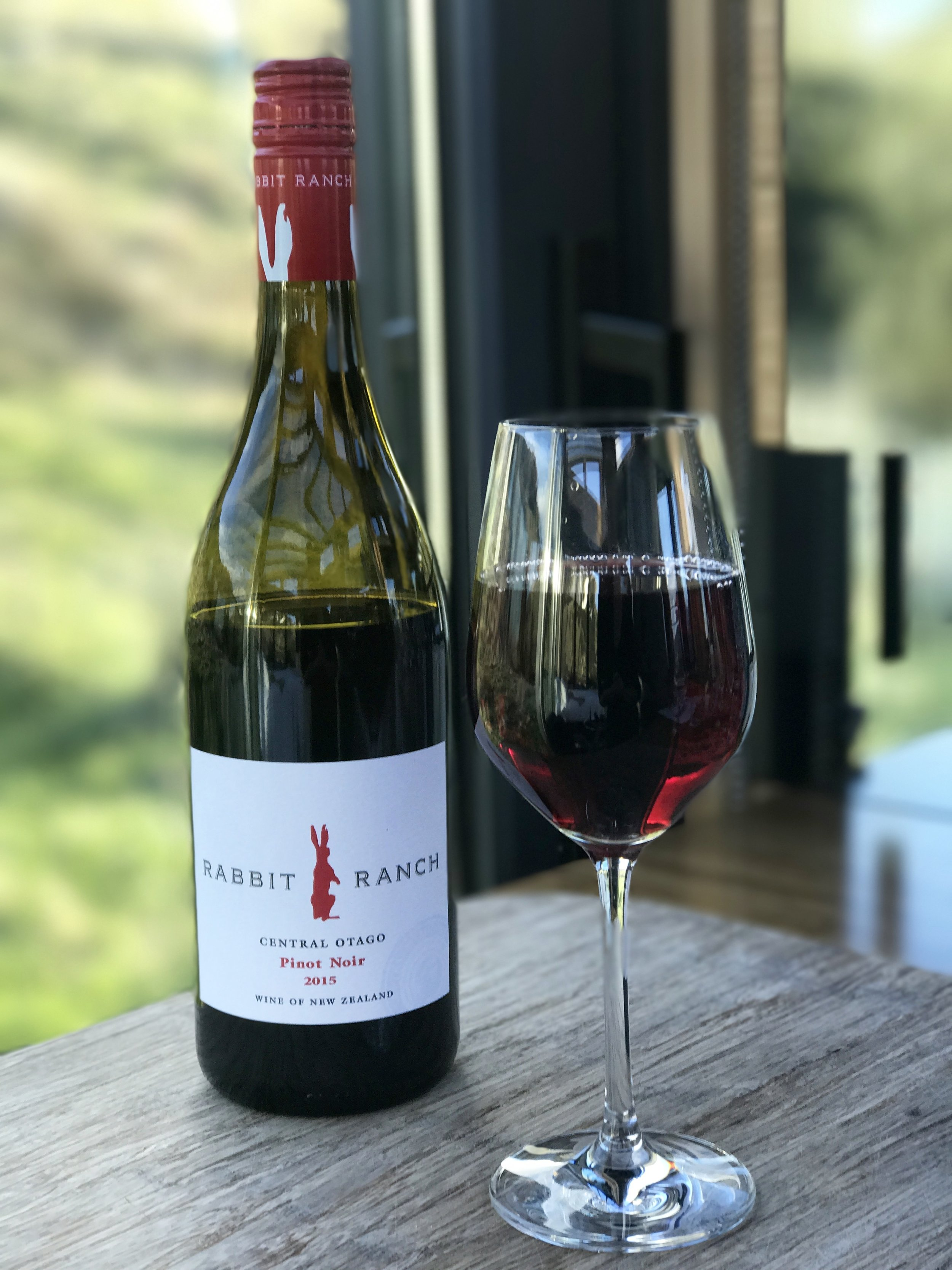 Rabbit Ranch, Central Otago pinot noir from the local Four Square (image by Jacqui Gibson).
