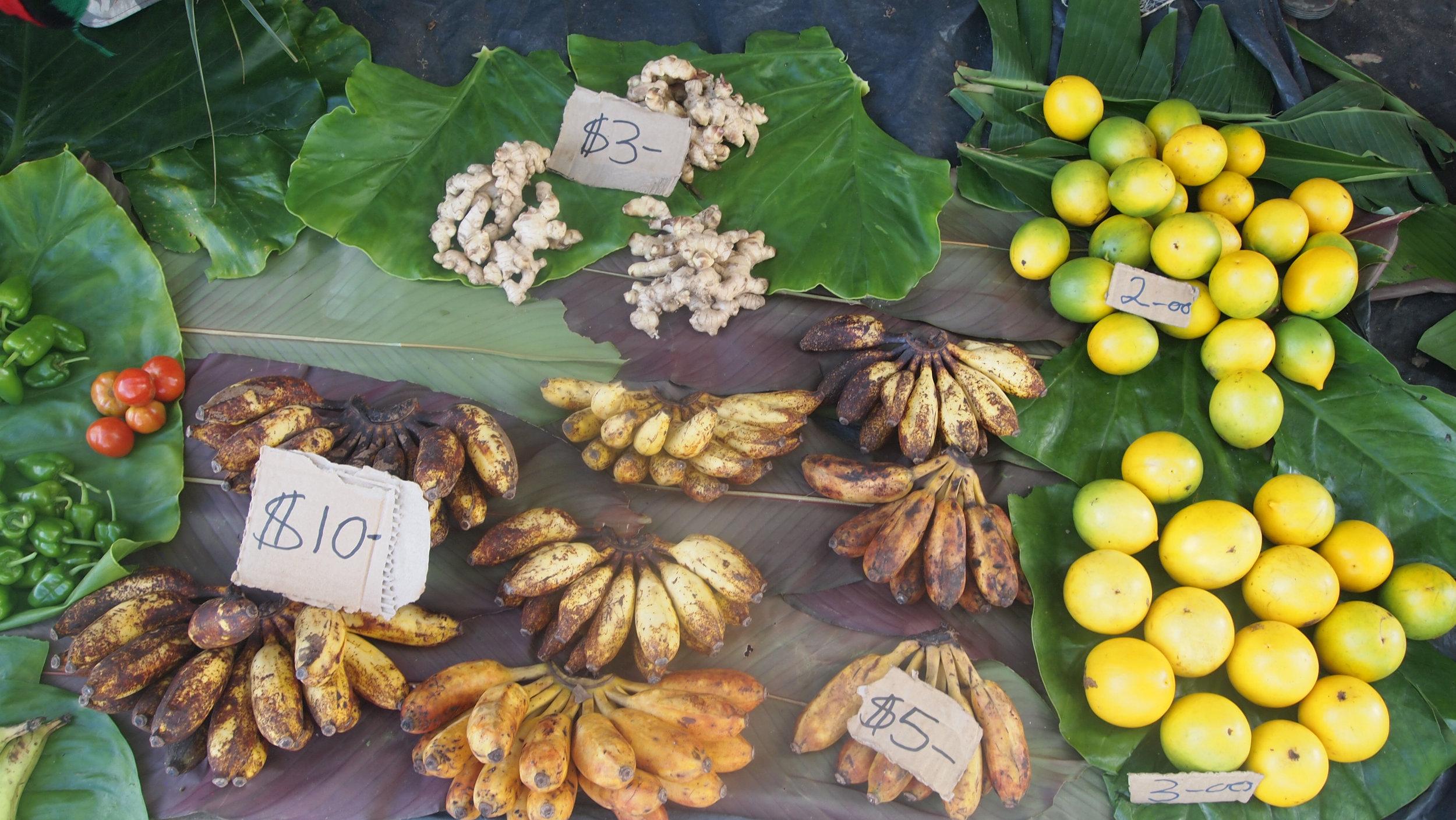 Gizo waterfront market produce (image by Jacqui Gibson).