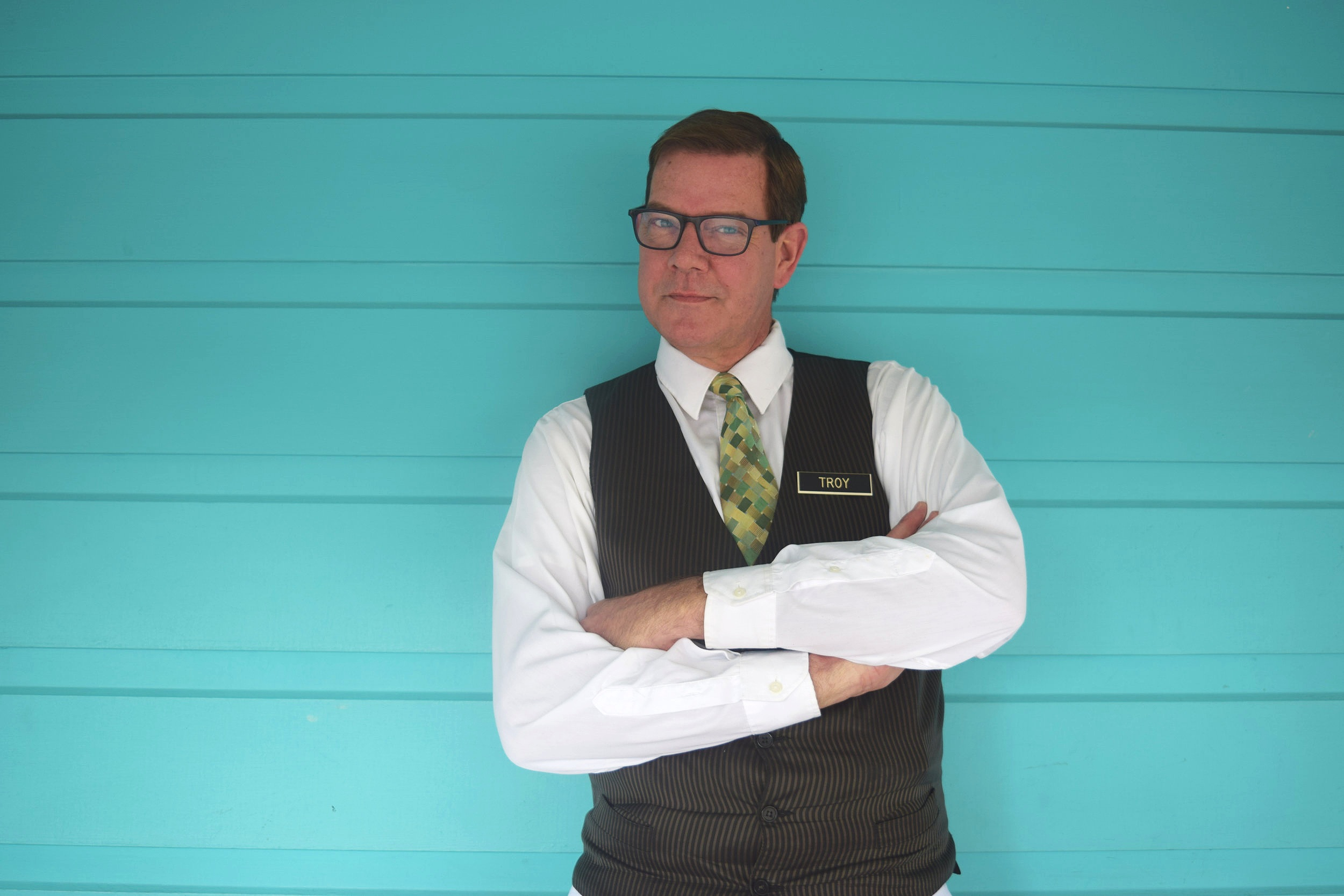 Career waiter of New Orleans, Troy Becker (photo supplied).
