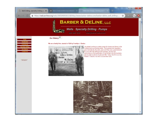 This WebSite was designed to showcase the services provided by a well drilling firm.      Click on the thumbnail to go to this offline site.