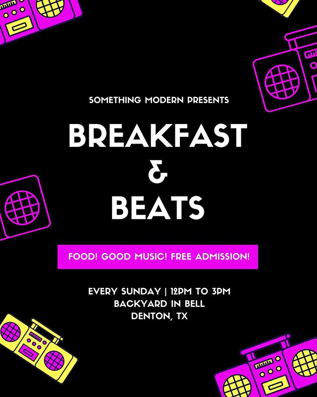 Kind Beats, cursive, and ponsuda will be providing their sounds while you sip on a $3 mimosa, $5 bloody, or anything else on the bar menu because Sunday = HAPPY HOUR ALL DAY! . . . #lofibeats #lofihiphop #chillstep #chillhop #hiphop #breakfastandbeats #dentontexas #dentontx #dentoning #dentonbrunch #brunch #mimosas #sundayfunday #dallasmusic #dentonmusic #dallasbrunch