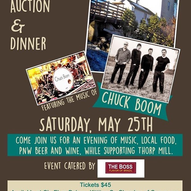 Our dinner auction is a mere week away!  Please come out and support one of our community's oldest landmarks next Saturday evening at the Kittitas Valley Event Center. Tickets are still available at Cle Elum Bakery, the Kittitas County Chamber of Commerce and on our website www.thorp.org.  Chuck Boom is playing!! #chuckboom #ellensburg #kittitascounty #cleelumbakery #cleelum #kittitascountychamber