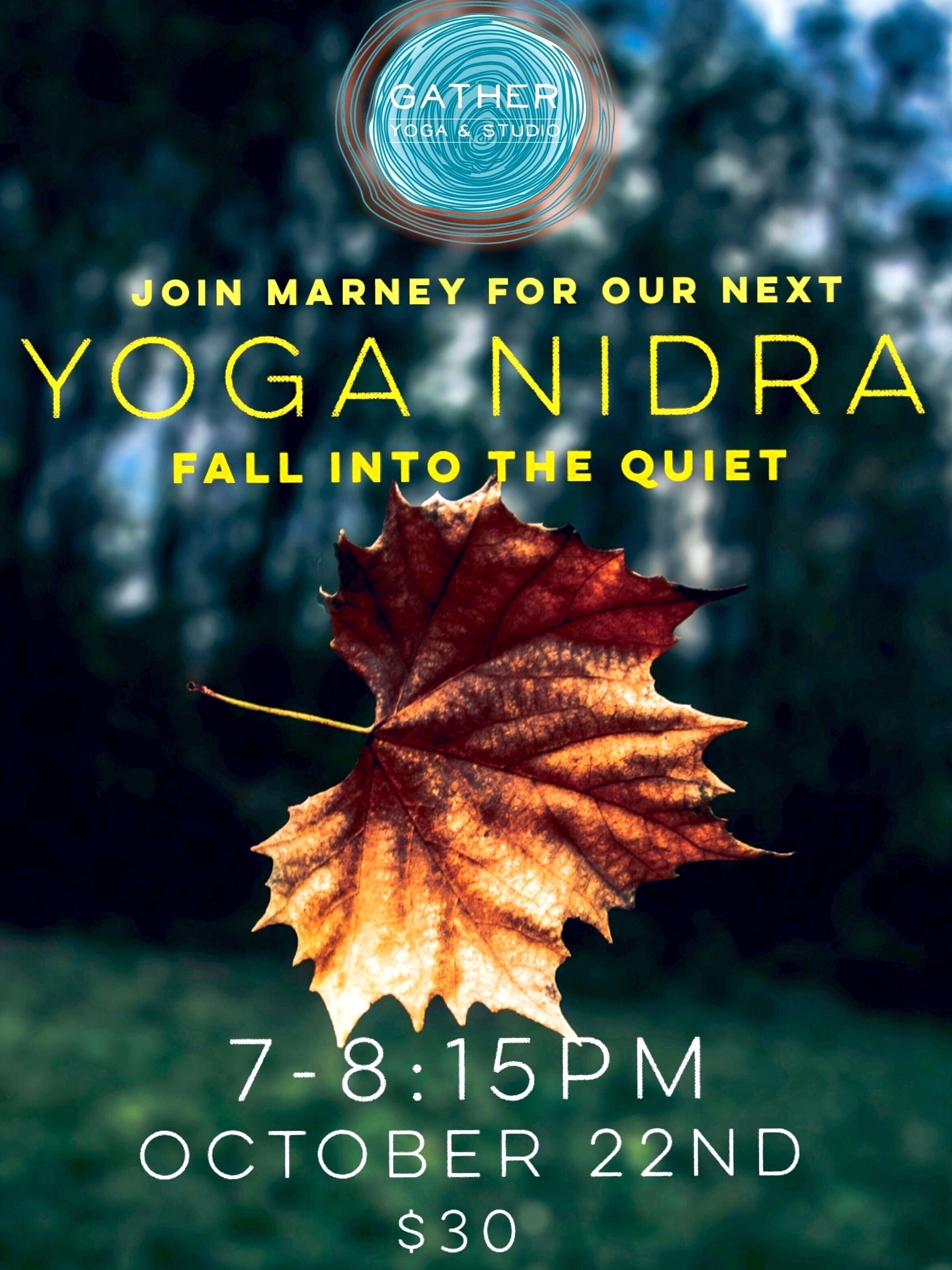 October 22nd Yoga Nidra