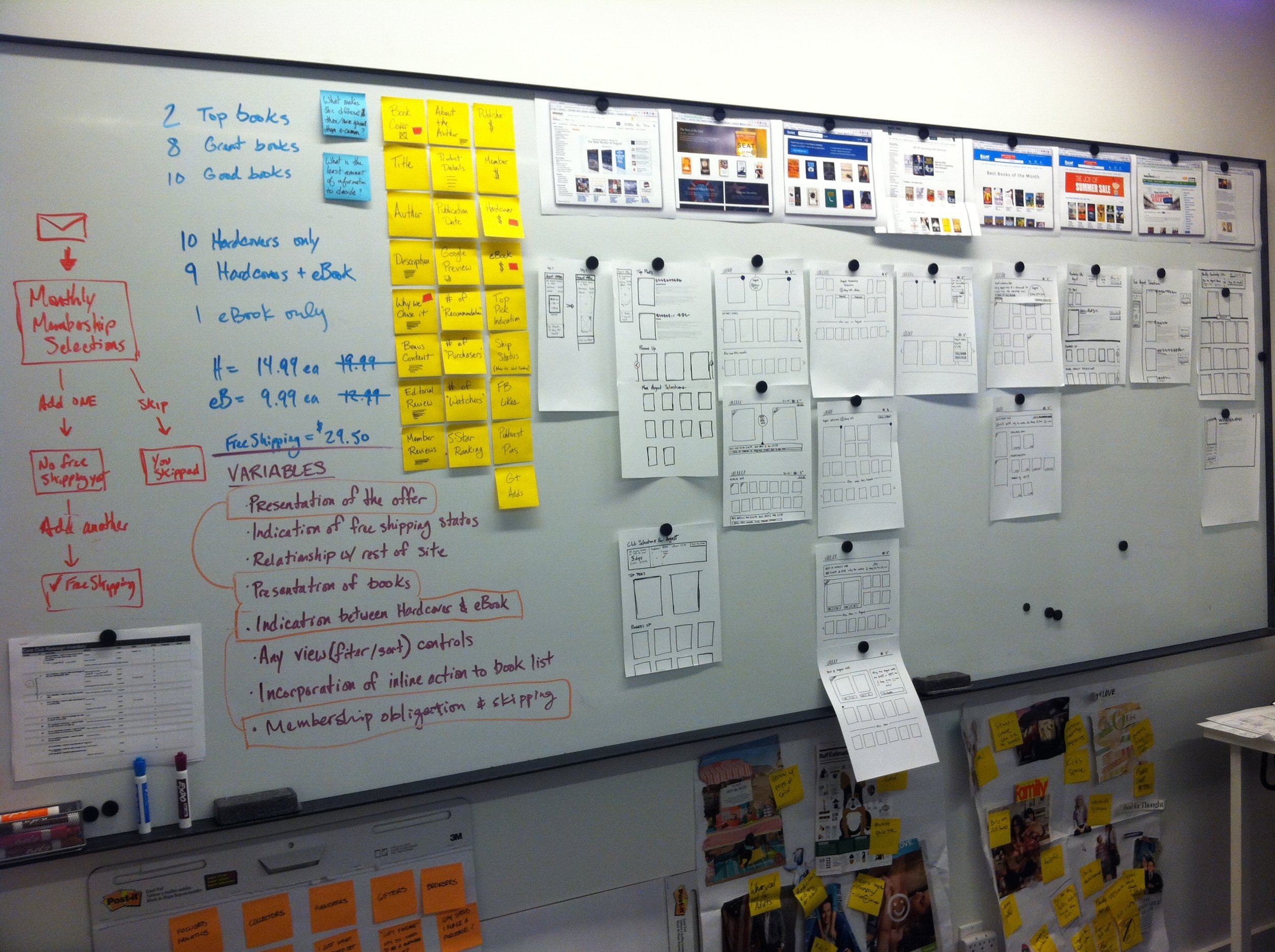 To validate new business model ideas, we sketched ideas to see how clearly we could communicate through an interface.