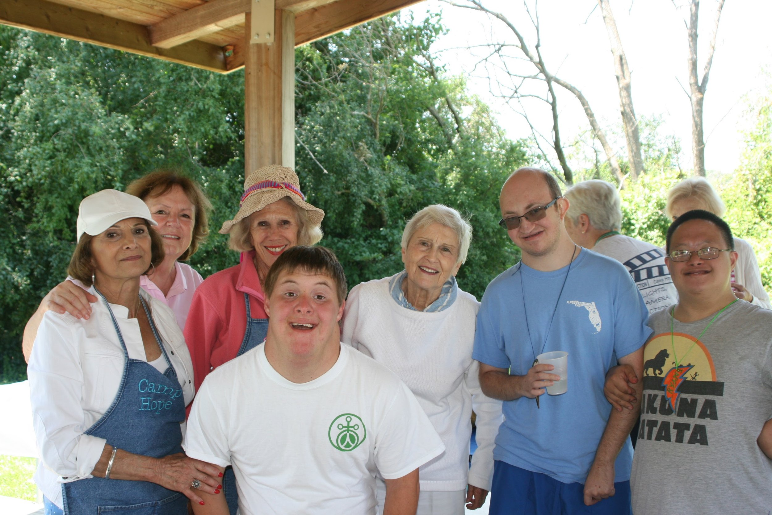 THE COMMUNITY - To promote community involvement and ecumenical harmony by encouraging the participation of various community groups and organizationsCamp Hope provides many outlets for community involvement. Anyone can become involved in Camp Hope by providing meals, offering services, or giving time as a volunteer during a camp session. Persons of all faith backgrounds are encouraged to get involved, thereby resulting in ecumenical harmony.