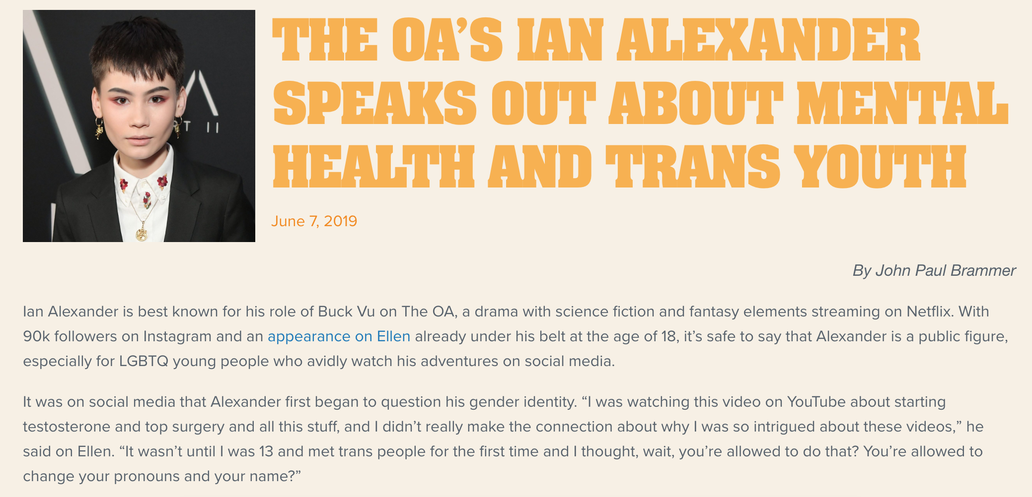 Ian Alexander | The Trevor Project