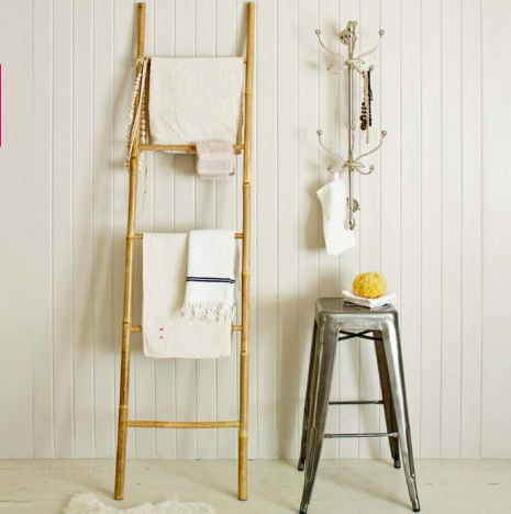 Bamboo towel ladder from Graham & Green