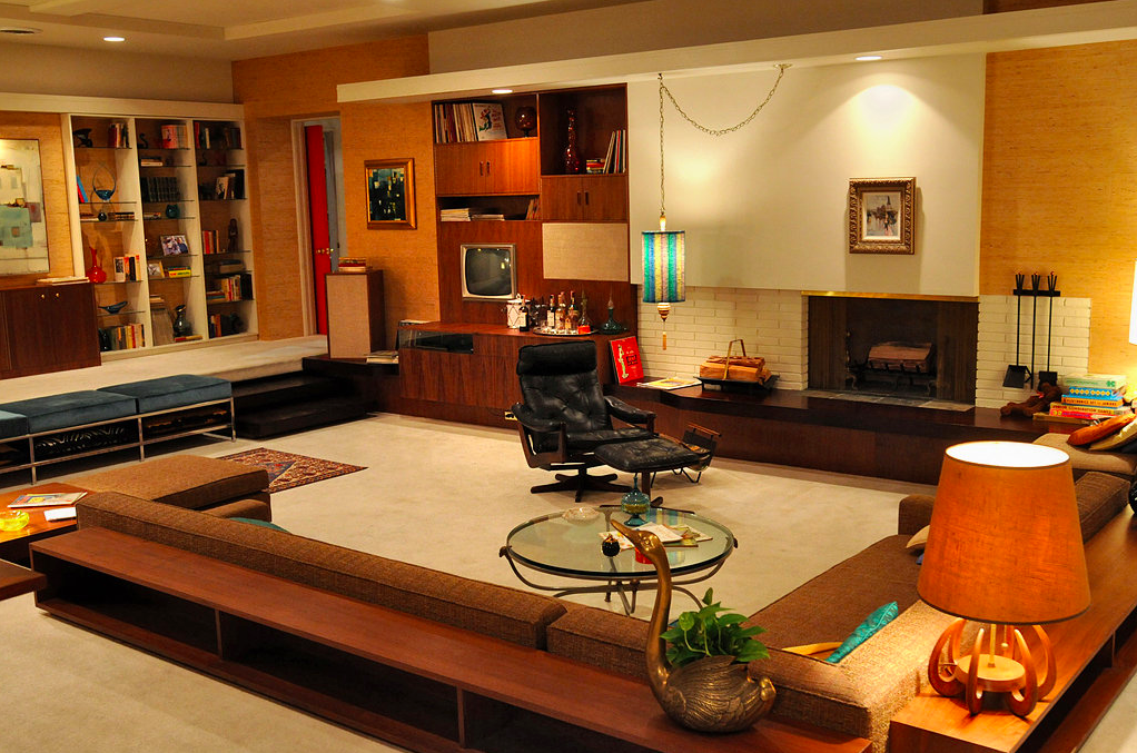 Conversation pit in Don and Megan Draper's apartment, Mad Men