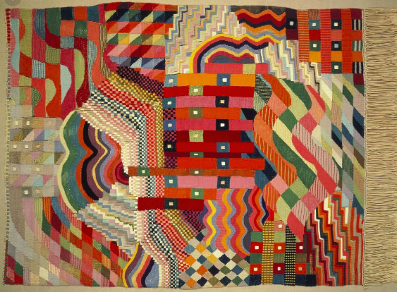 Gunta's 'Red-Green' tapestry was inspiration behind a large collection of fabrics that Liberty launched in the 1970s and 80s.