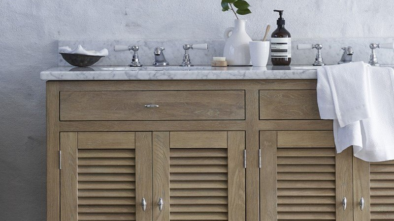 Edinburgh Closed - Closed Washstand | Solid Oak