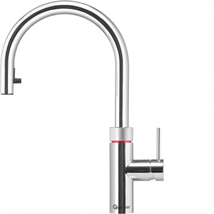 Flex   Boiling-water tap and mixing tap in one, with a flexible pull out hose for more reach and extra functionality.