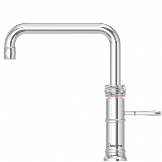 Classic Fusion   A new timeless classic that will look at home in every country style kitchen. The classic range offers all the same advantages as the familiar Quooker and is available in a new square and round Classic Fusion all in one tap.