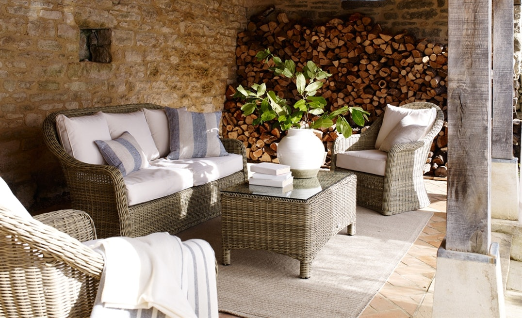 Your great outdoors - The Neptune garden collection ranging from dining tables, chairs, seating, occasional pieces, parasols, planters and pots. All of these varying a lot of styles from a more classic look to more towards the contemporary side.