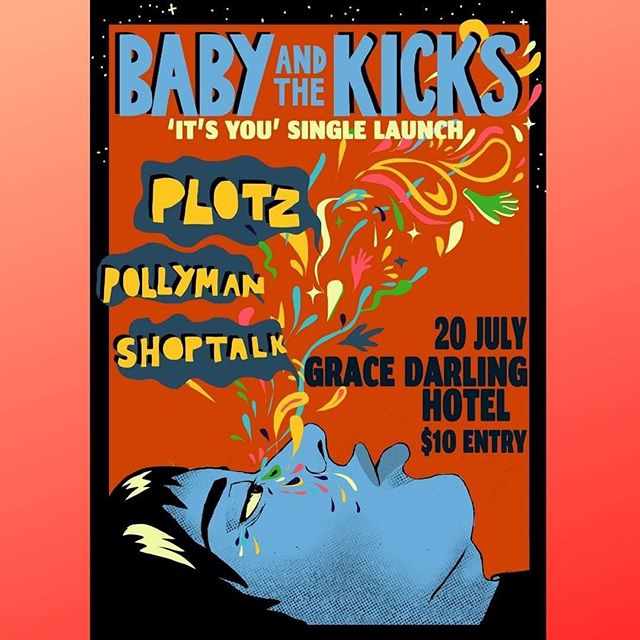 Tonight we support @babyandthekicks for their launch alongside @_____pollyman_____ at @thegracedarling 🤟🤟doors 8pm entry $10 ❤️❤️