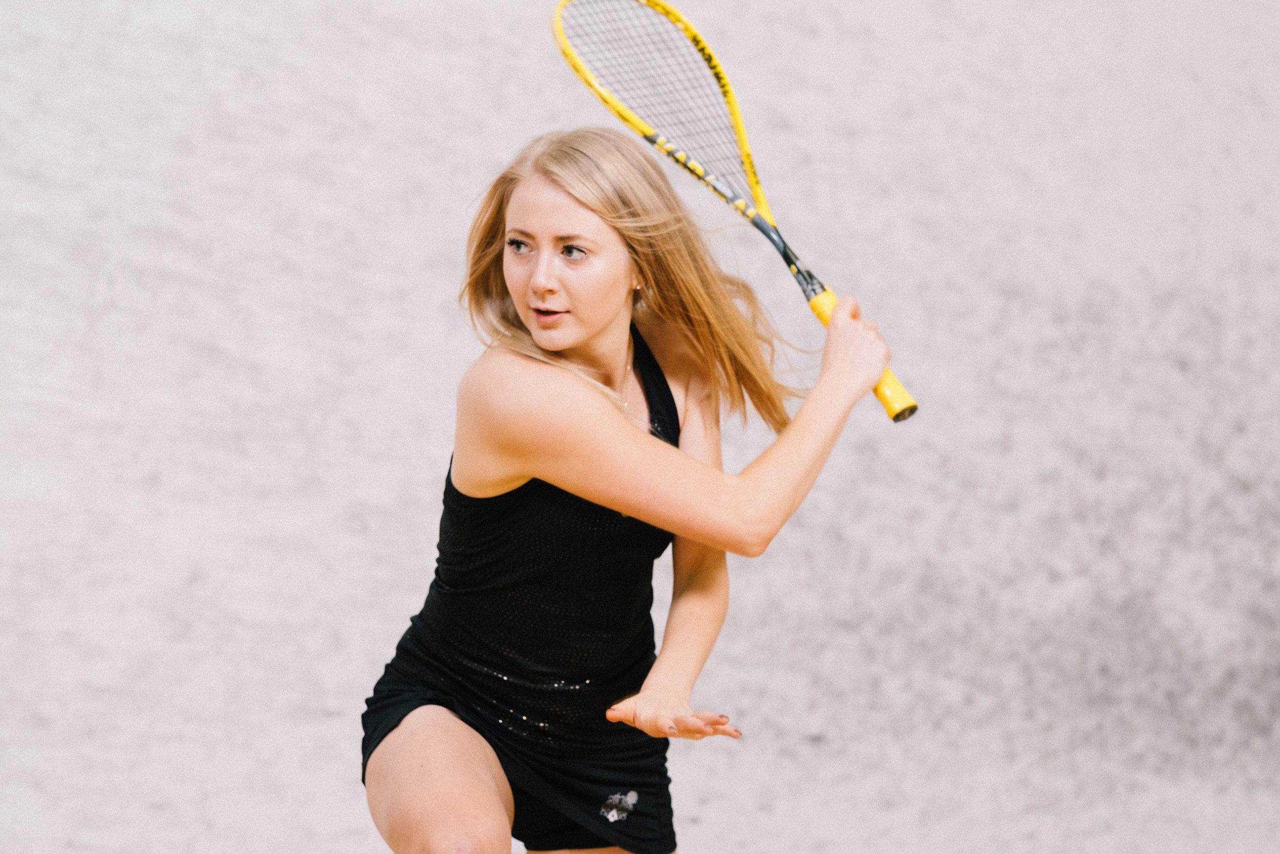 Emilia EK Korhonen Squash Player