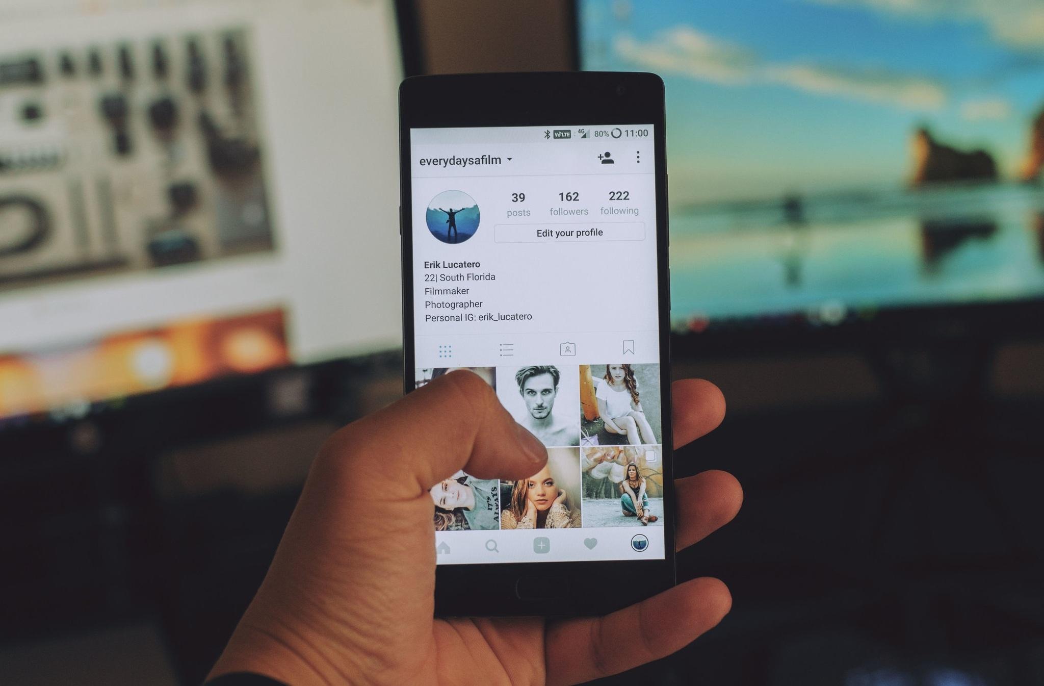 Social Media Management Image on Instagram