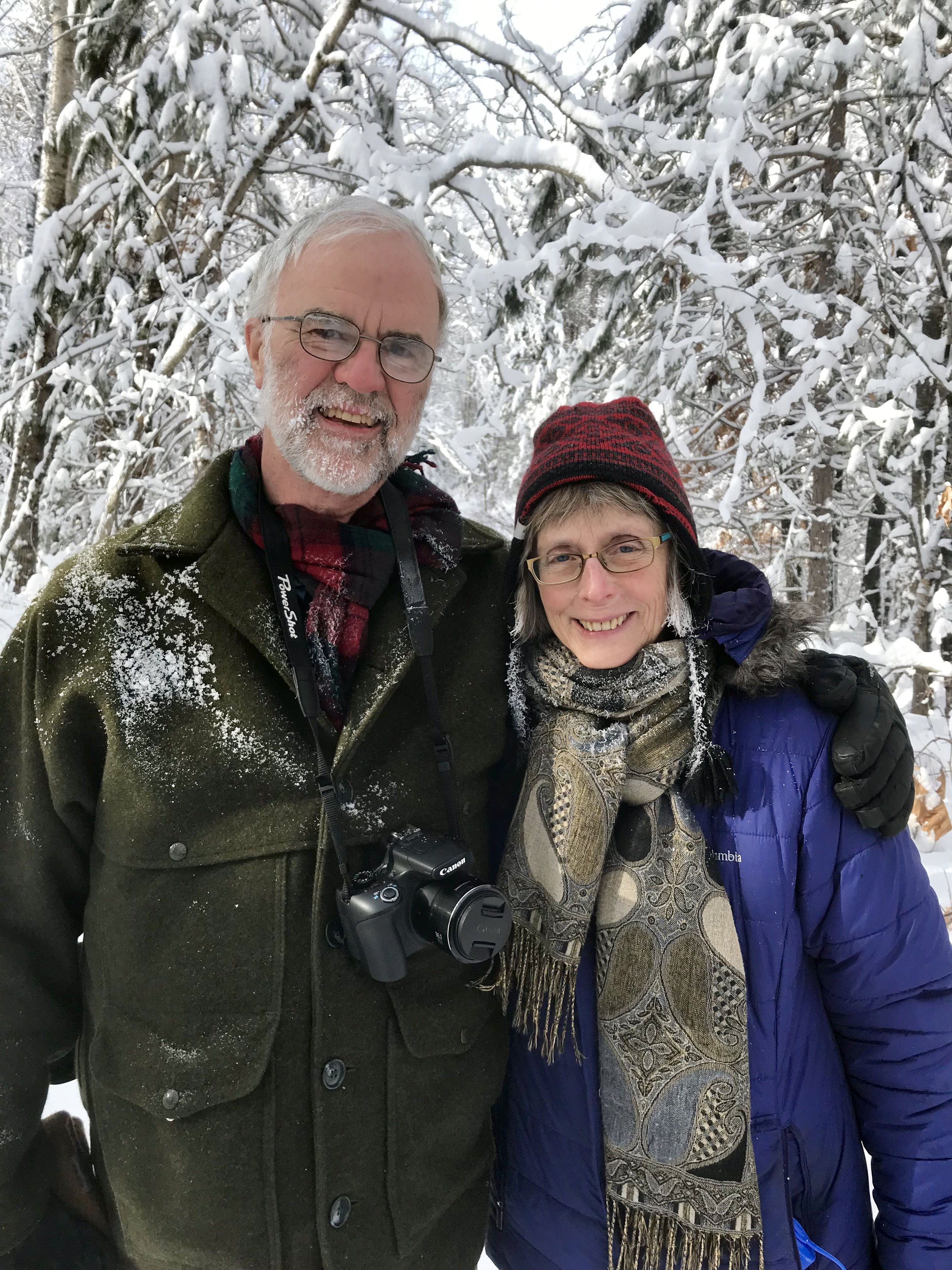 I share my writing, digging-in-the-dirt life with Dave, daredevil snowshoer. -