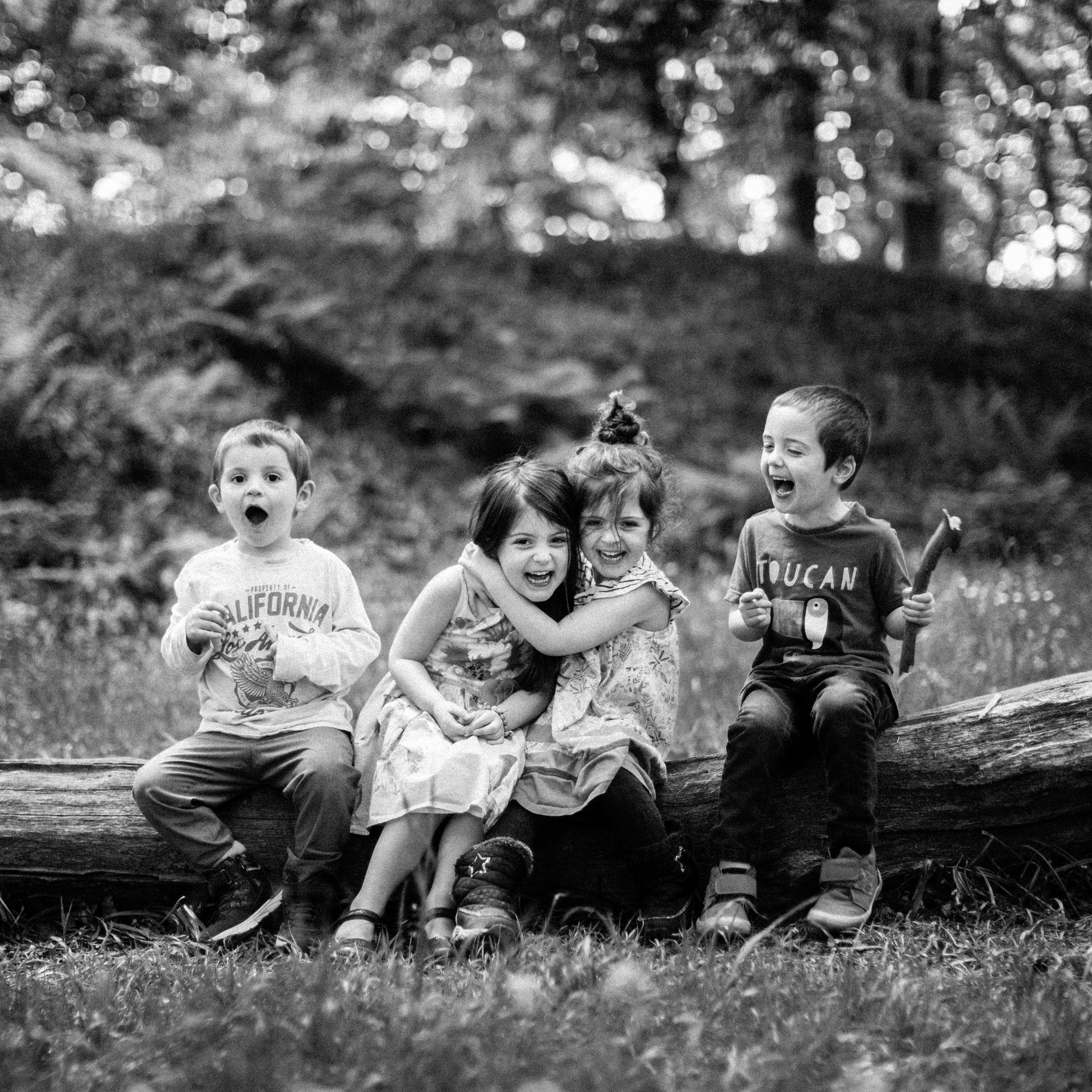 My children - Zach with triplet siblings Sienna, Summer and Jacob - having fun on a shoot is the most important thing!
