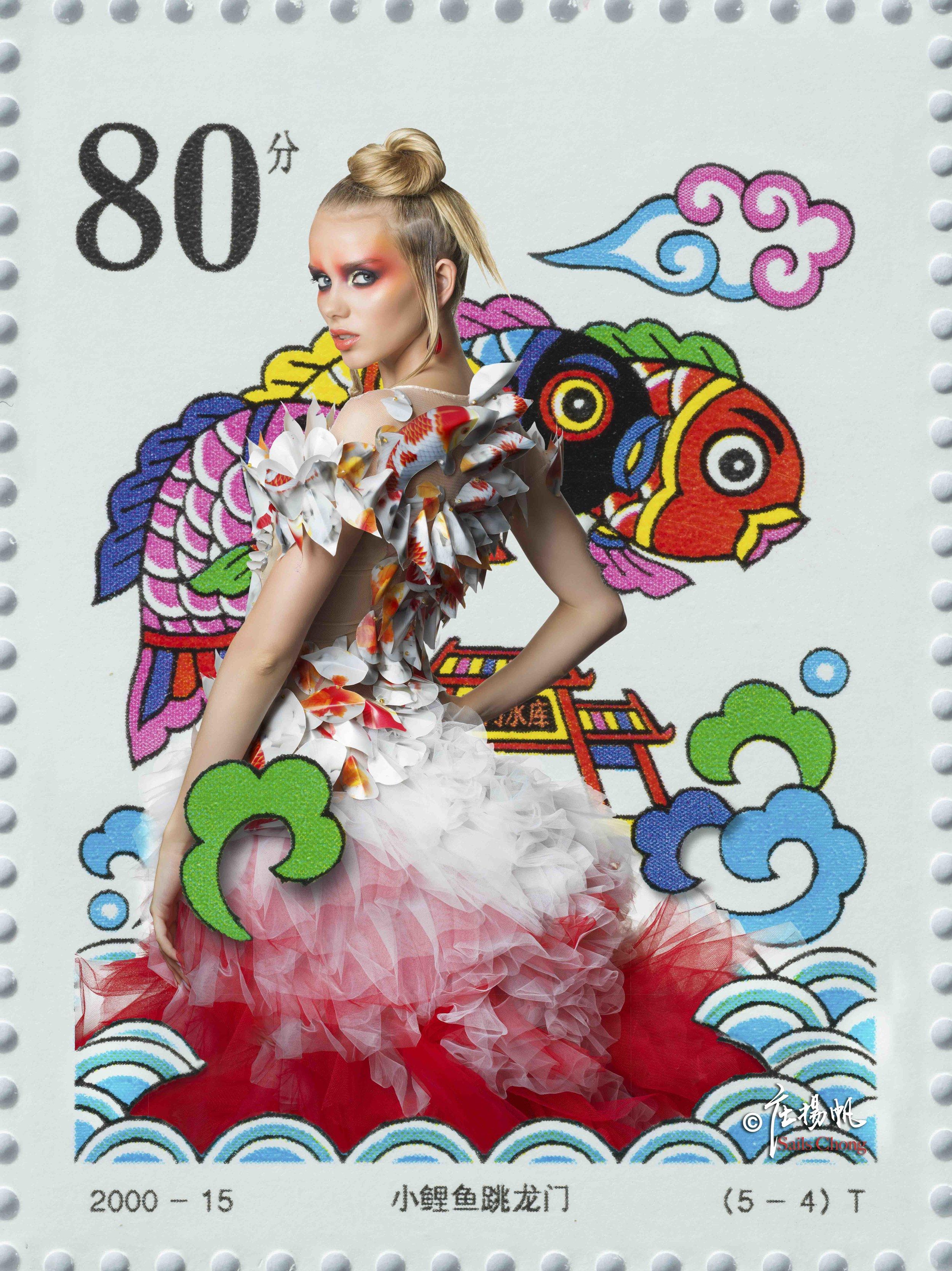 Production: Awamu Moja / Photographer: Sails Chong / Fashion Designer: Huiqin Peng / Model: Lola Alc / MUA: Paddy McGurgan / Hairstylist: Valentina Becker