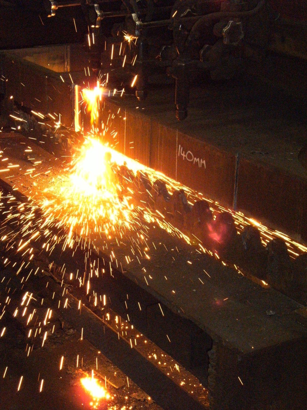 Profile cutting 140mm grade s355 steels