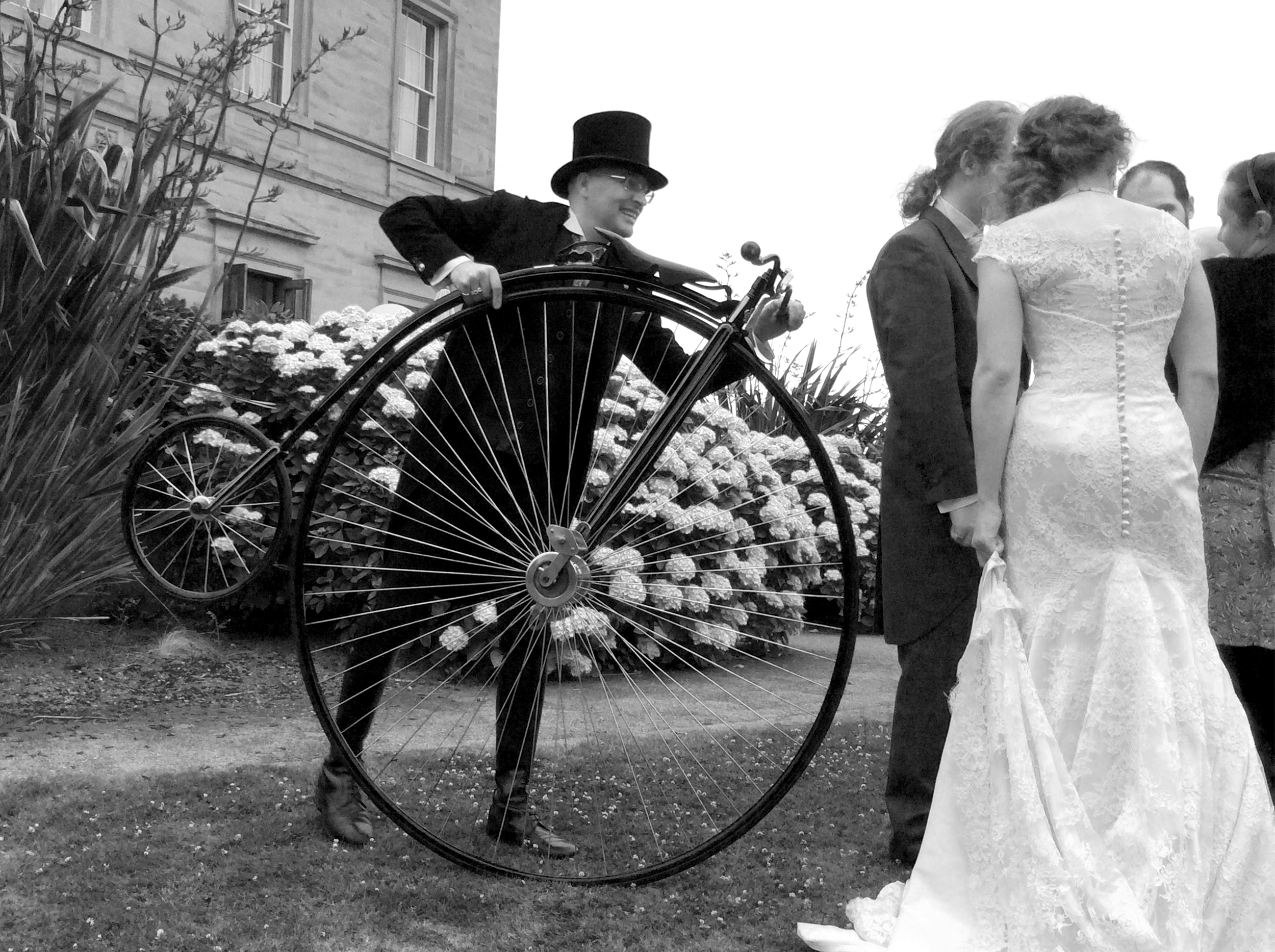 INSPIREDTO KNOW MORE? - If you think that you may may like to Victorian History come to life at your special day with the Iconic Machine that we all know and love as the Penny Farthing!Make the Victorian pleasure pastime arrive at your Wedding and give the day an extra Wow Factor!Please get in touch with our team.
