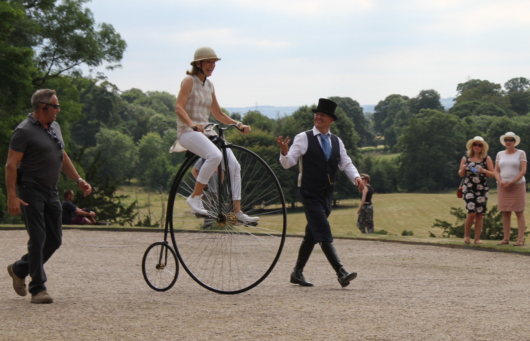 CONFIDENCE ASSURED - From never riding a Penny Farthing, to mastering a machine from the Victorian Era is our commitment in our actor/presenter training services. This has come from years of skilled nurturing, understanding and patience.Mr Phoebus offers skilled riders and stunt doubles for more complex production demands.