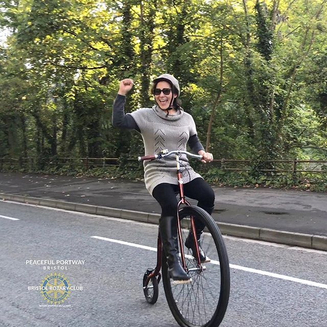 🌟Happy Rider , cycles Penny Farthing along Bristol's Portway... Amazing day, thanks to The Bristol Rotary.jpg