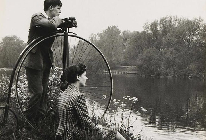 Picture of Penny Farthing near river
