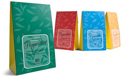 Gable top Tea packaging