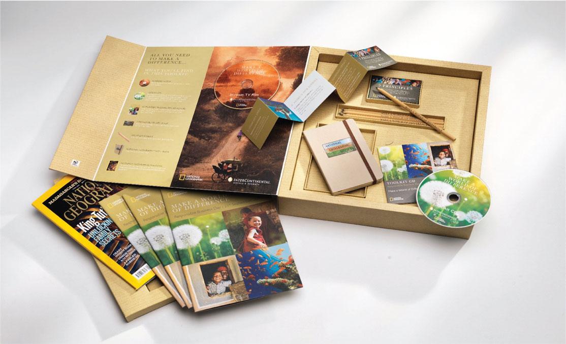 National Geographic custom printed presentation pack