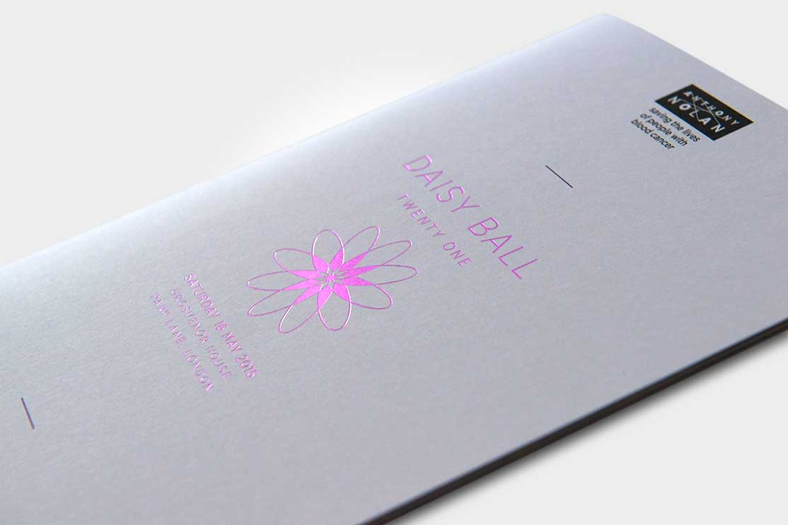 Pink Foiled Invitation