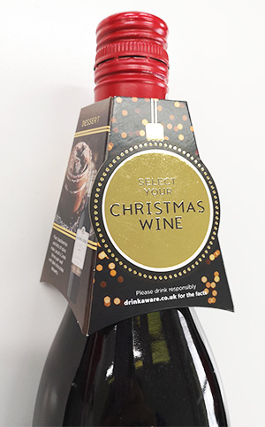 Christmas wine bottle neck collar