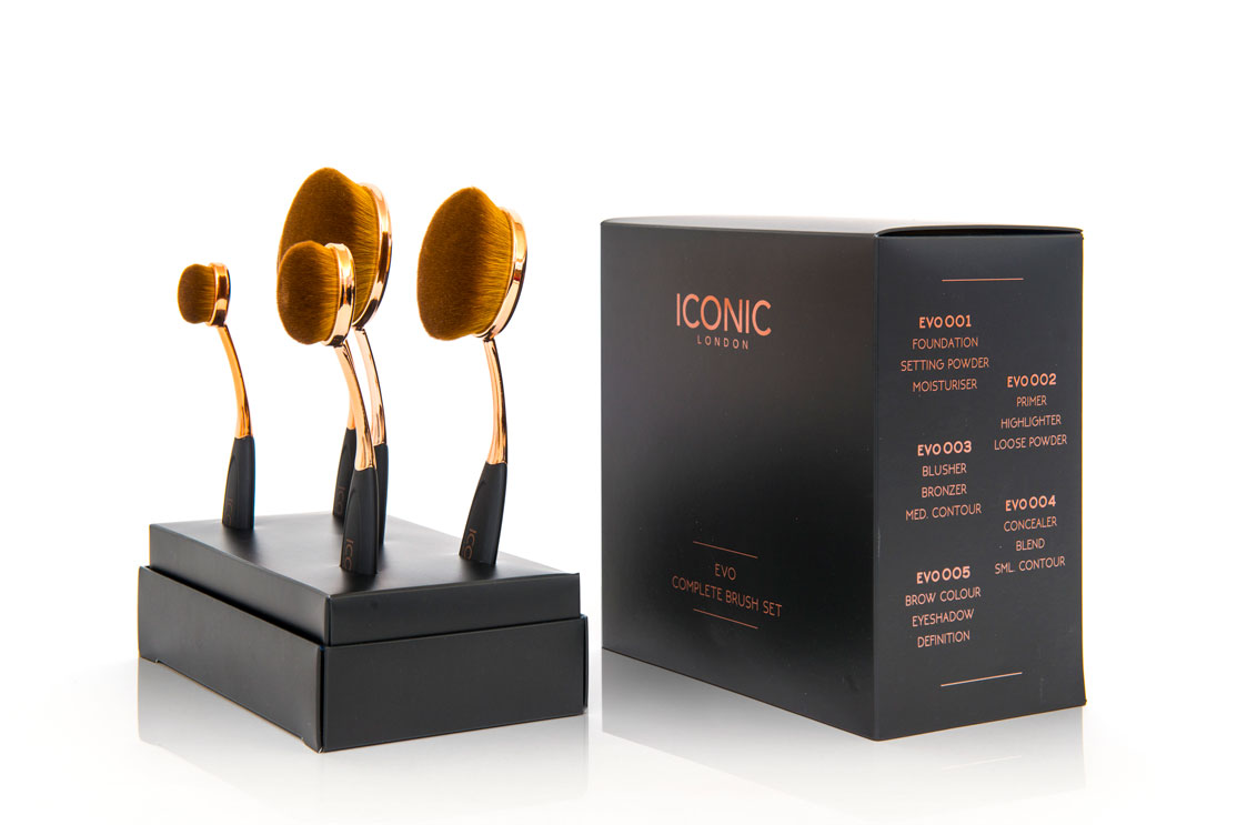 Cosmetics carton with display stand