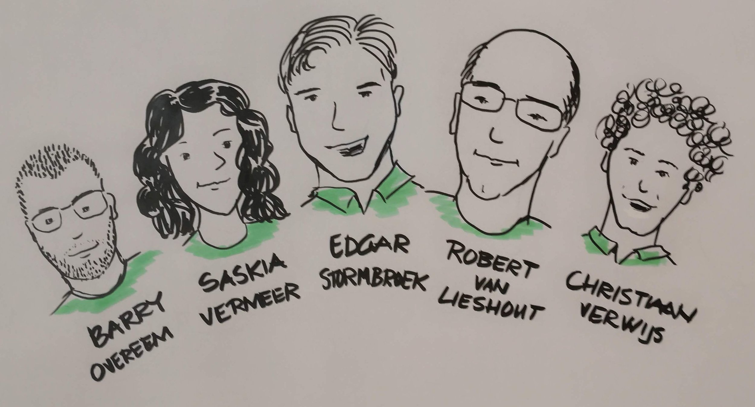 The Design Team. (Drawing by Thea Schukken)