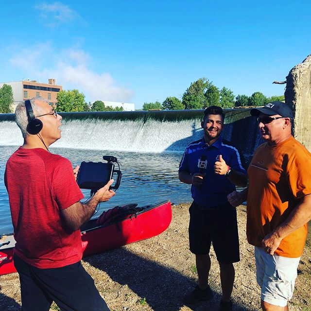 Got to hang with some good friends for my Facebook Live with the @whiterivercanoecompany