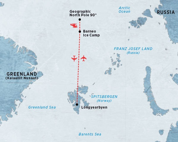 The base of operations for the Barneo Ice Camp is located in Longyearbyen. Pole Position Logistics provides agency services and logistics for the Russian team and coordinatiion of their stay in Longyearbyen.