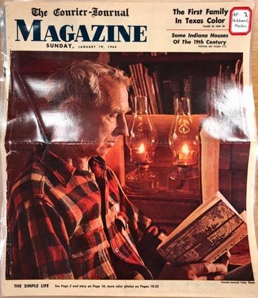 Harlan Hubbard, Courier-Journal Magazine cover, Jan.19 1964 photo by John Begley