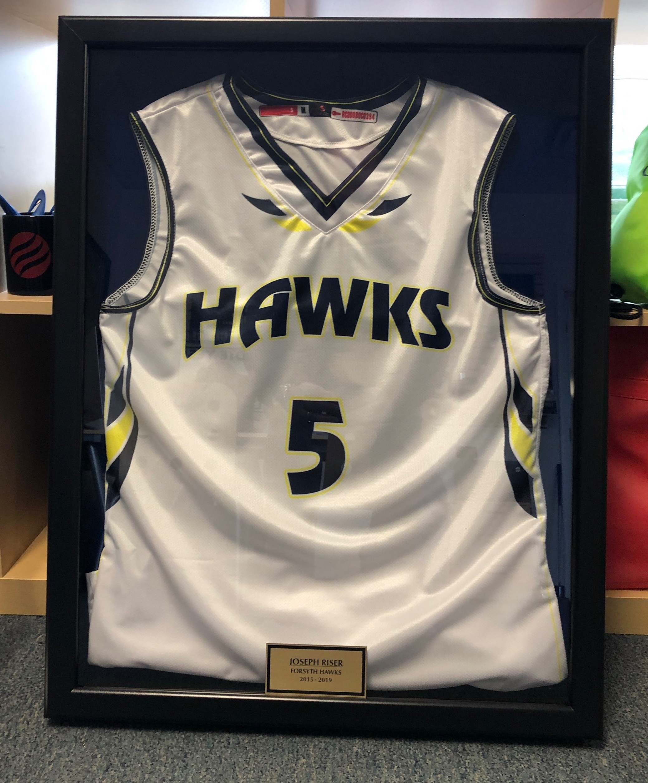 Custom Jersey Display Cases With Personalized Engraved Plate
