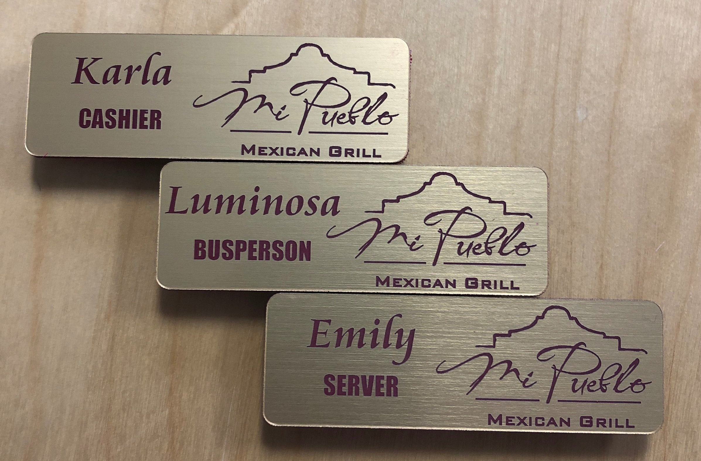 Custom Engraved And Imprinted Name Tags