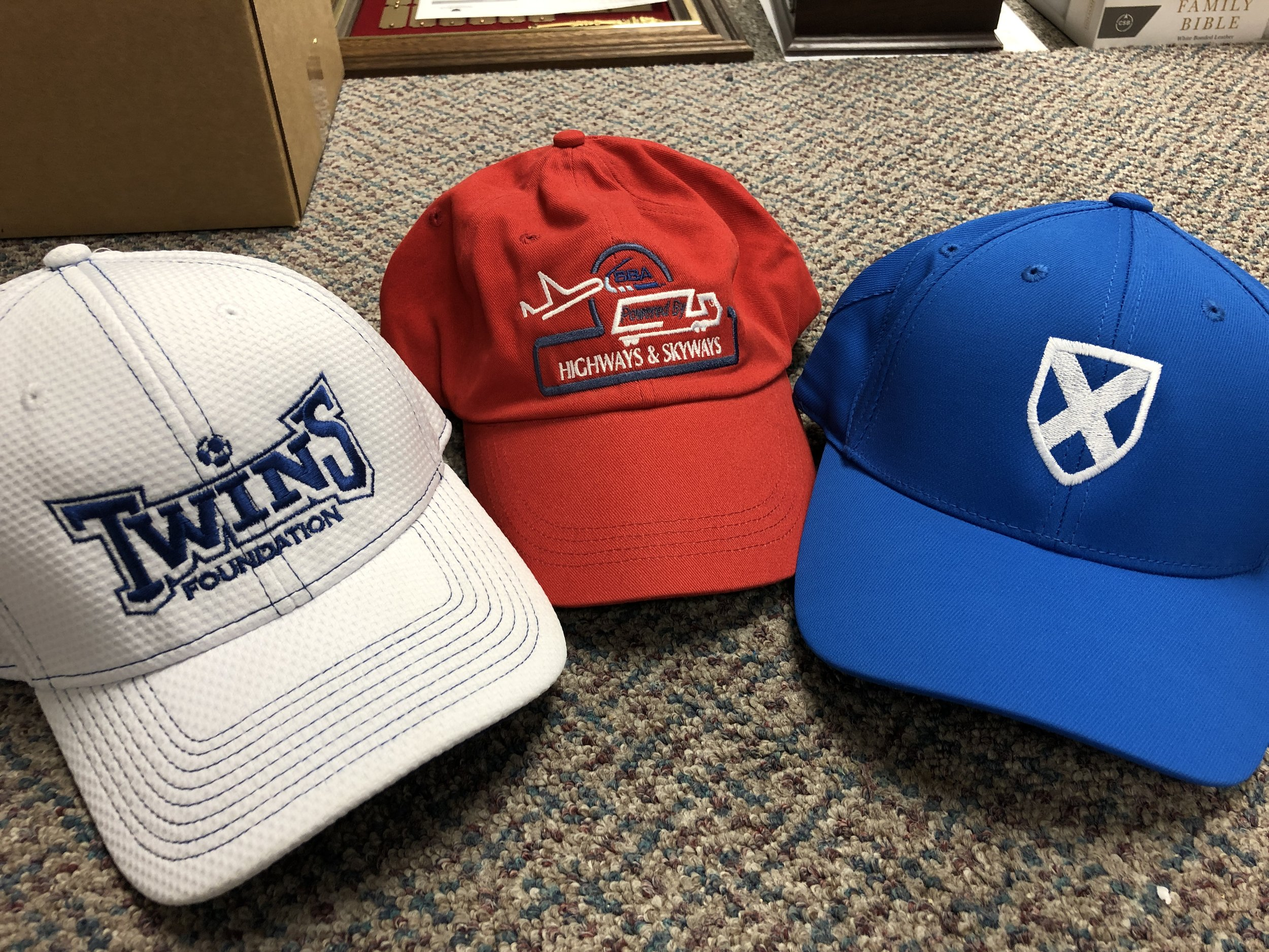 CUSTOM EMBROIDERED CAPS AND HATS…CLICK TO LEARN MORE