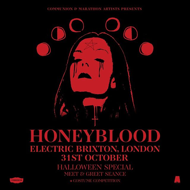 💀 London!! I'm throwing a Halloween party at @electricbrixton on 31st Oct!! Tickets onsale this Wednesday! Follow Honeyblood on @SpotifyUK or @AppleMusic to win a free pair of tickets and the chance to come backstage and grab some free goodies! 💀link in the bio ya spooky bitches 🎃
