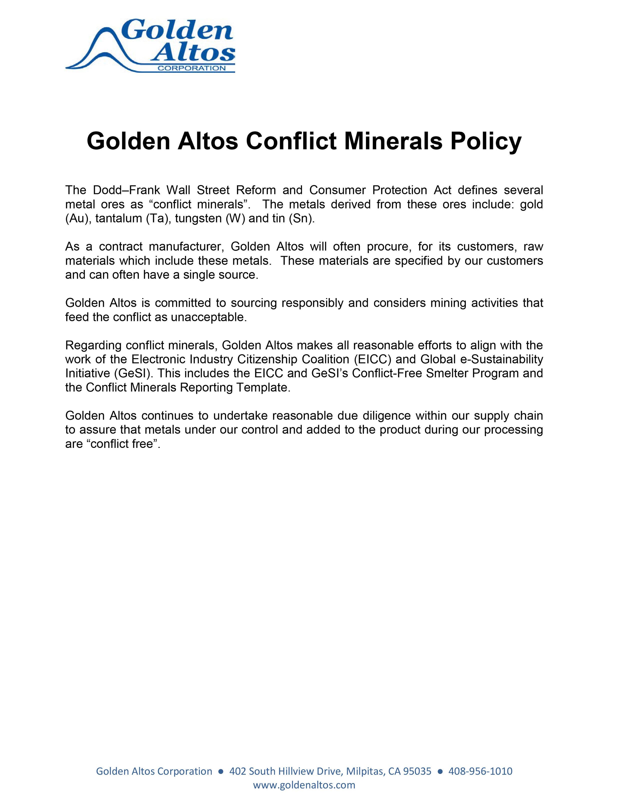 Golden Altos Conflict Minerals Policy.jpg