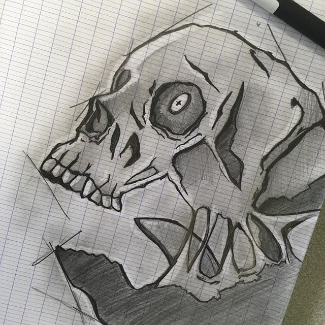 #illustration #sketching #skull #pencildrawing