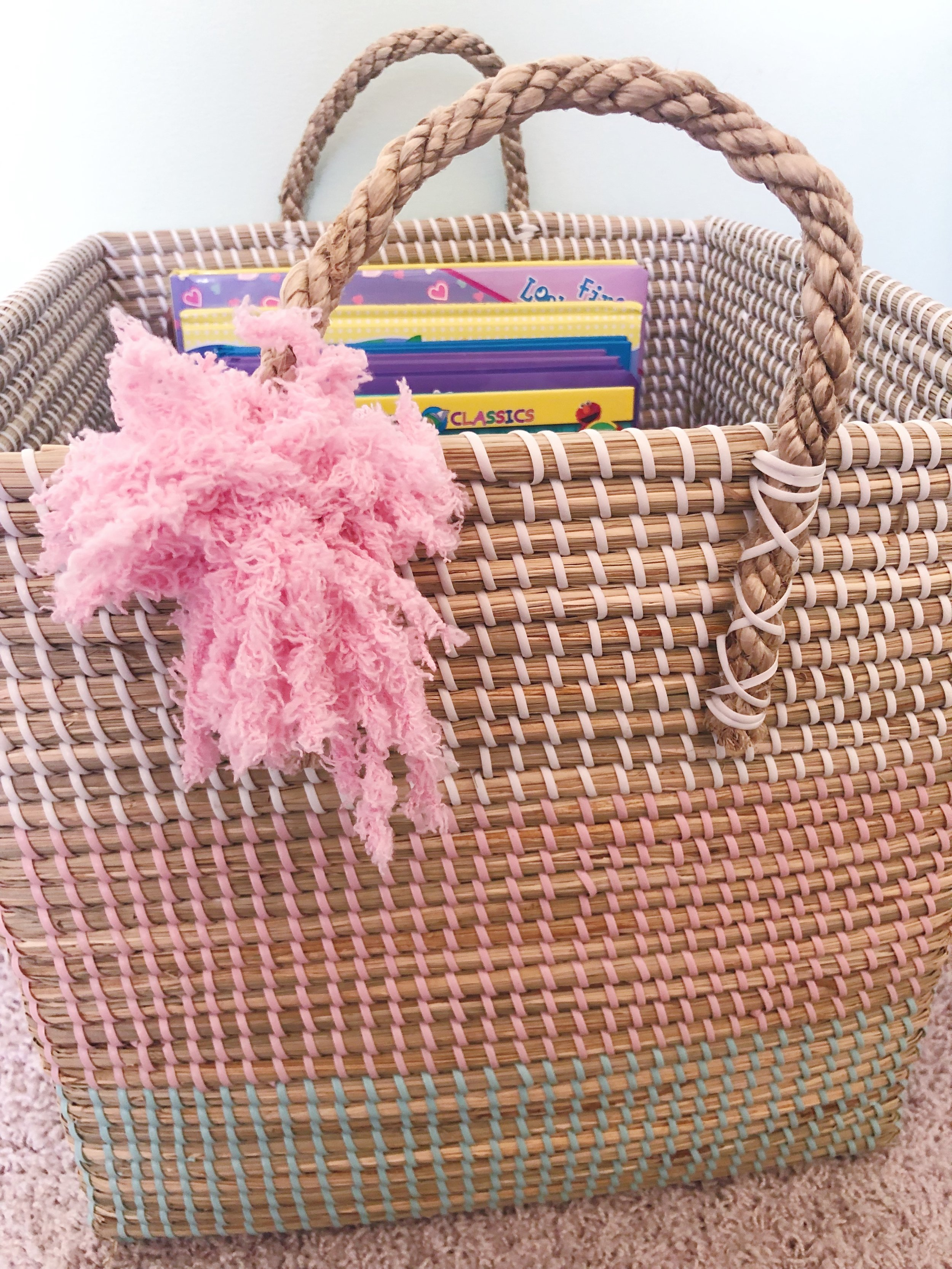 baskets, containers& bins - My house is full of them- meaning every item has a place. I even have a basket I keep at the bottom of our stairs that is my 'reminder basket' of random items that need to be put away. I love the look of all clear containers and bins for certain items- holiday decor or crafts. Baskets are also a great way to express your own style- not everything is meant to be seen through a clear bin.