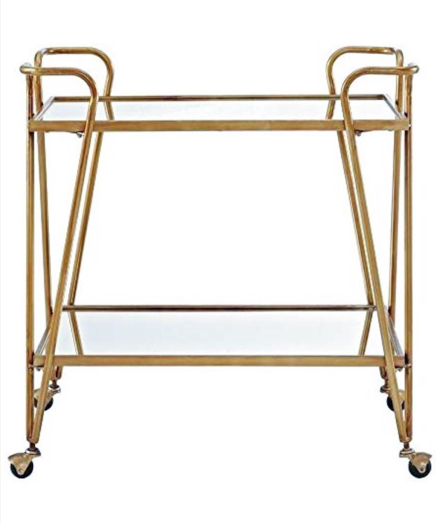 carts - For crafts or booze! I'm currently obsessing over the glass and gold trimmed bar carts that have become recently more popular. And I love a good cart for all your crafts- organized and easily accessible.
