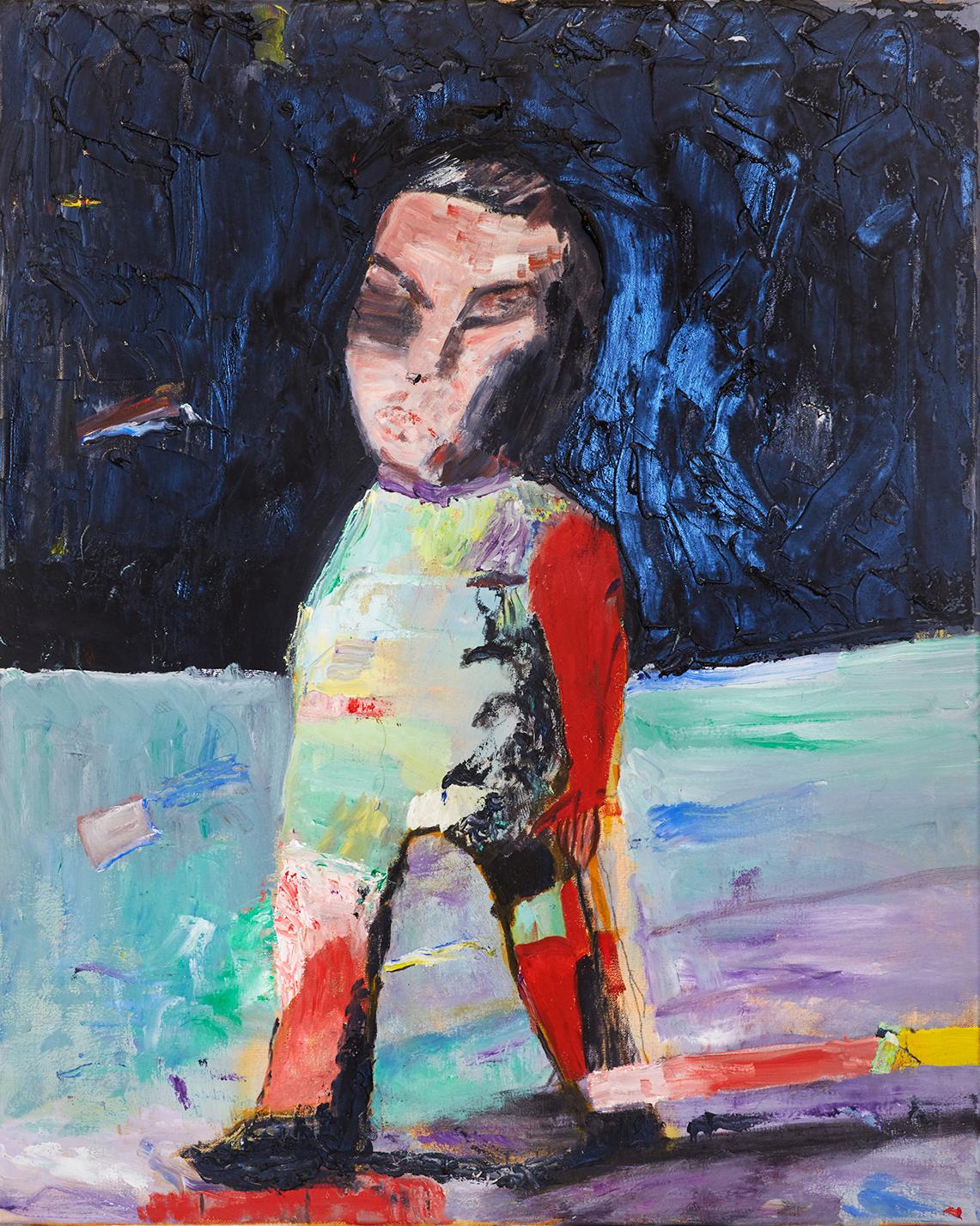 """Left Behind , 30 x 24"""", acrylic on canvas, 2017"""