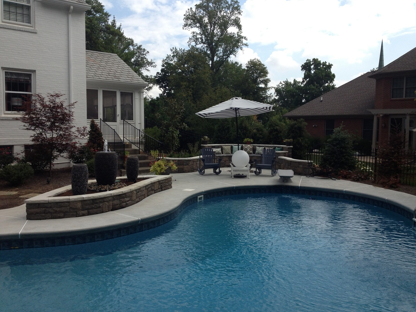 Backyard and installation in West Chester, OH
