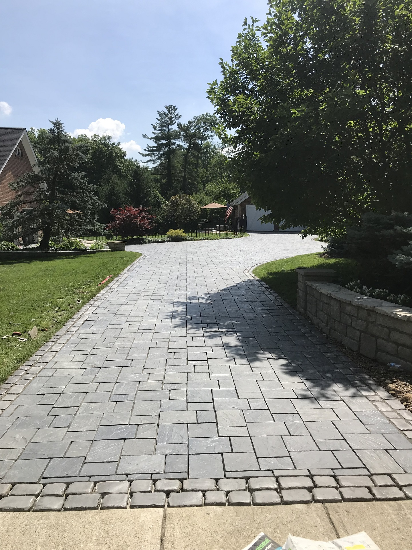 Paver driveway in West Chester, OH by top landscaping companies