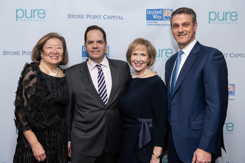United Way Board Chair June K. Blanc, Gala Honoree Ross Buchmueller, President and CEO Alana Sweeny and Immediate Past Chair David Yawman, Esq.