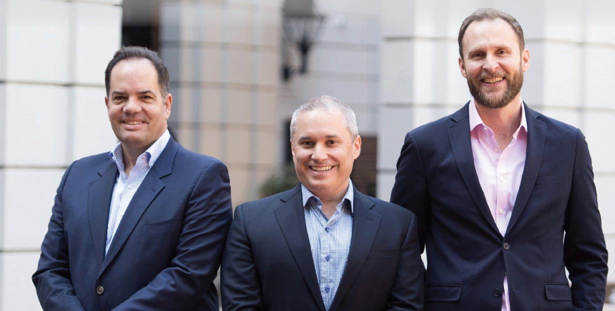 From left to right: Ross Buchmueller, President and Chief Executive Officer; Jeff Paraschac, Executive Vice President, Chief Financial Officer; Martin Hartley, President, Specialty Operations.